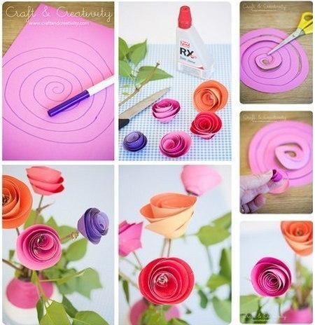 Как быстро сделать цветок своими руками из бумаги