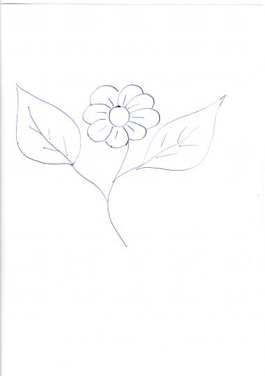 Рисунок с цветком в зубах