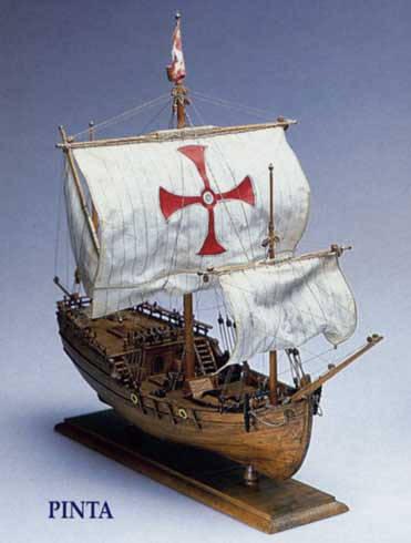 AM1410 Сборная модель из дерева PINTA масштаб 1:65.