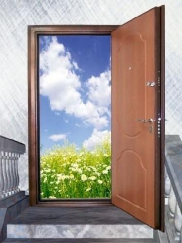 металлическая дверь и вторая обычная