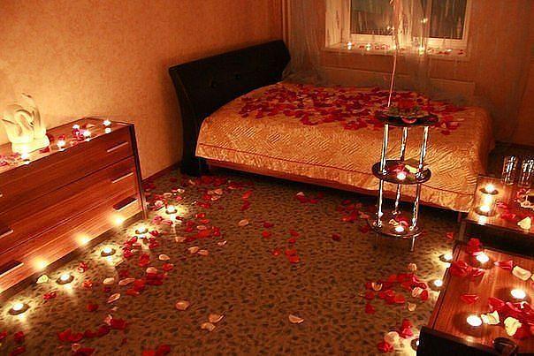 Романтическое свидание домашних условиях