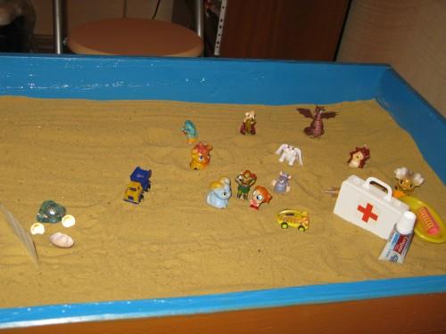 Песочная терапия как способ работы психолога с семьей