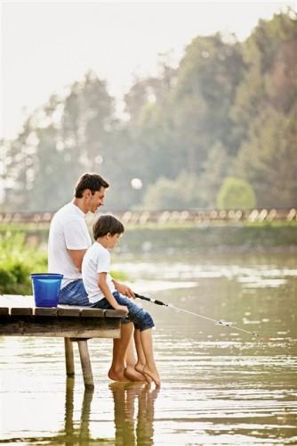 отец да сынок капут  получи рыбалке