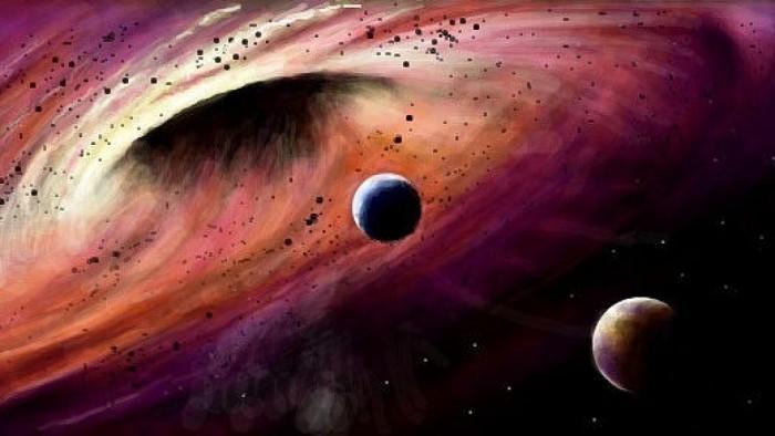 На марсе спутник нашел огромную дыру