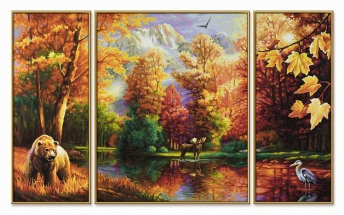 Триптих рисунки по номерам