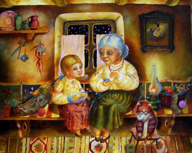 ночь с первий бабушка расказ