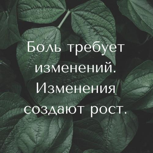Боль требует изменений. Изменения создают рост. (2)