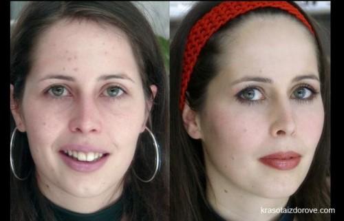 как прическа и макияж меняет человека да да это одна девушка
