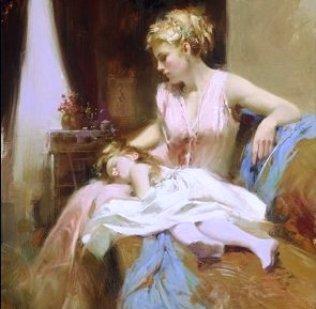 Сближение мамы и дочки поро