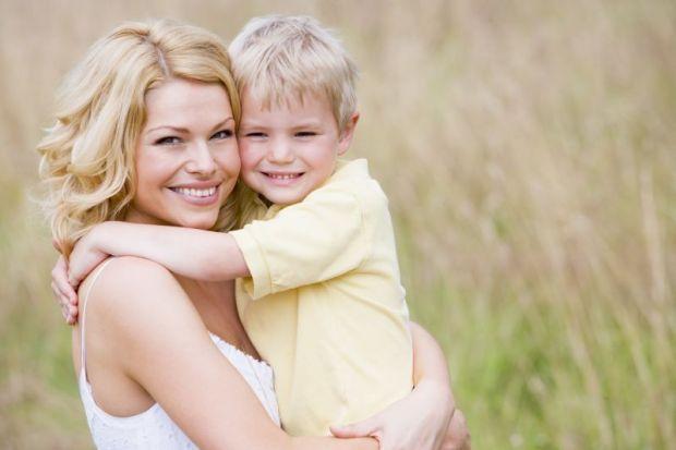 сын с мамой