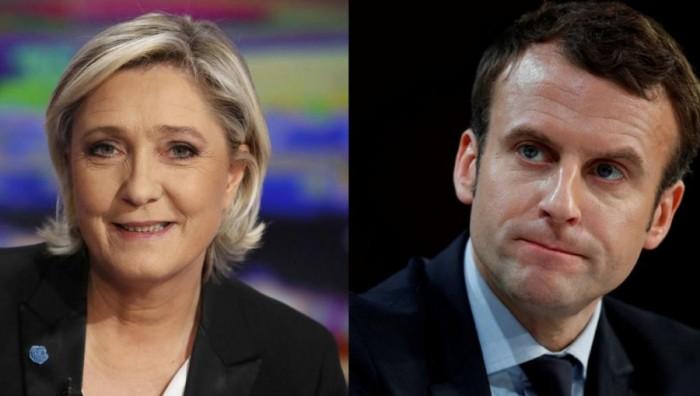 Выборы Президента Франции Марин Ле Пен и Эммануэль Макрон