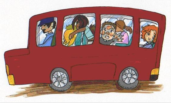 Смешной автобус рисунок, приколами