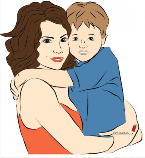 Мама и сыновья картинка нарисованная