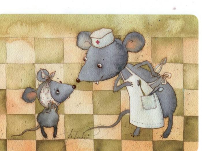 Открытки мультяшные мышки болеющие