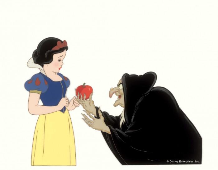 Картинка из белоснежки с яблоком