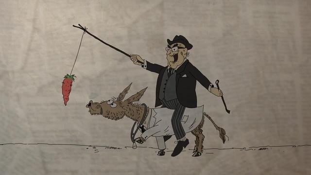 Смешные рисунки мужик на осле, открытки