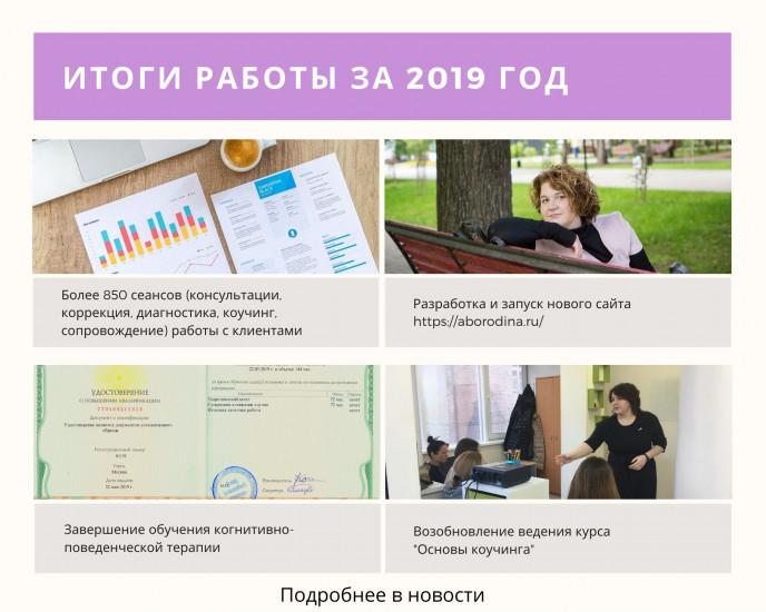 Итоги работы за 2019 год