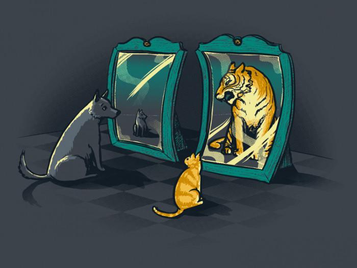 рецептах картинка кот в зеркале лев наш
